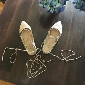 Just Fab lace up flats